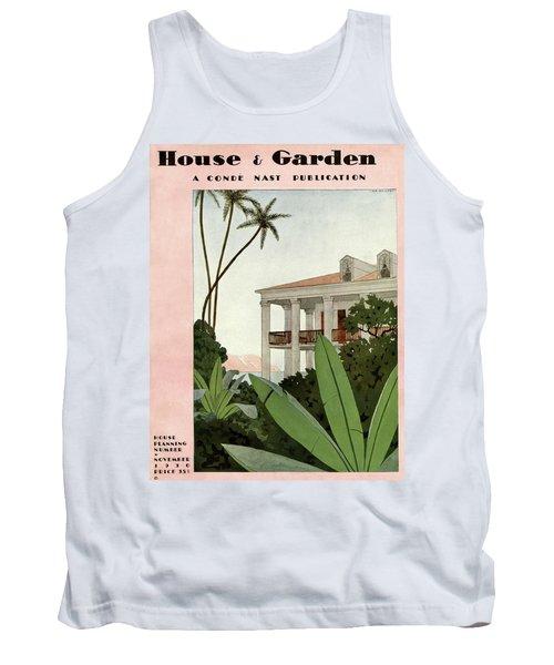 House & Garden Cover Illustration Tank Top