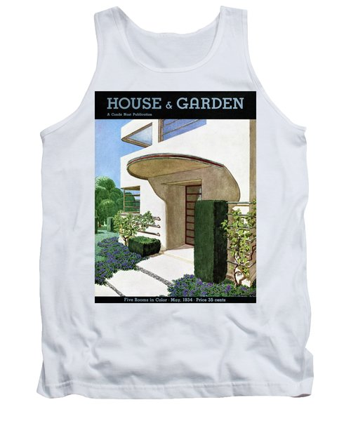 House & Garden Cover Illustration Of A Modern Tank Top