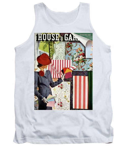 House & Garden Cover Illustration Of A Woman Tank Top
