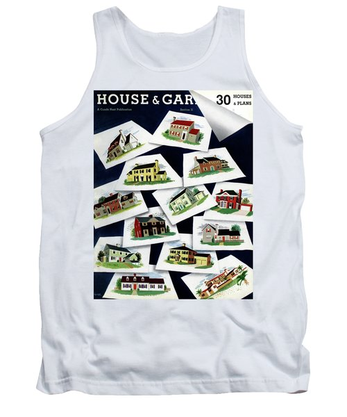 House & Garden Cover Illustration Of Various Homes Tank Top