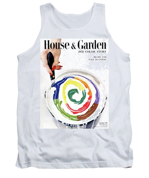 House & Garden Cover Of A Woman's Hand Stirring Tank Top