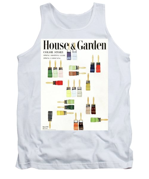 House & Garden Cover Of Paintbrushes Dripped Tank Top