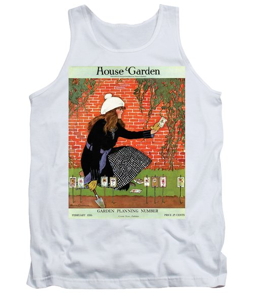 House And Garden Garden Planting Number Cover Tank Top