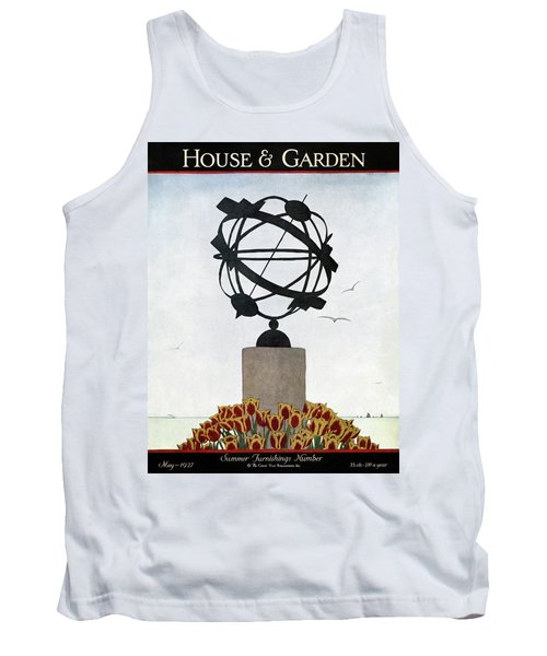 House And Garden Summer Furnishings Number Tank Top