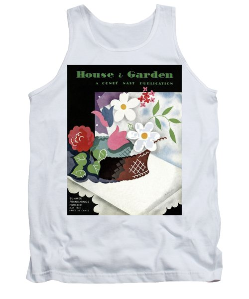 House And Garden Summer Furnishings Number Cover Tank Top