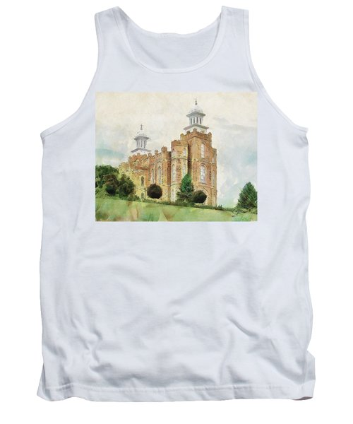 Tank Top featuring the painting House Of Defense by Greg Collins