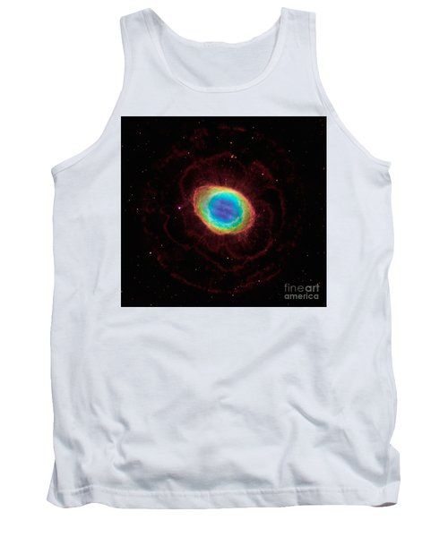 Tank Top featuring the  Hubble Reveals The Ring Nebulas True Shape by Paul Fearn