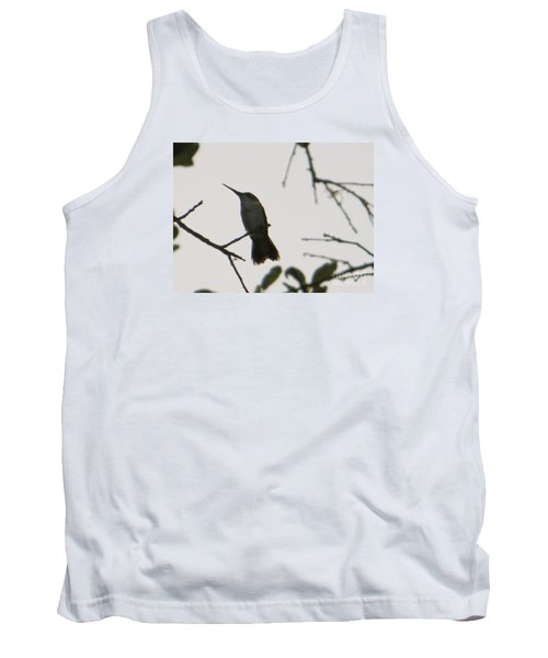 Tank Top featuring the photograph Hummingbird Silhouette 2 by Joy Hardee