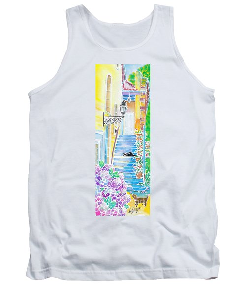Hydrangeas And The Hotel Tank Top