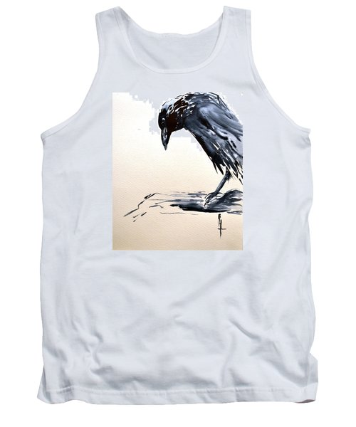 Tank Top featuring the painting I Am A Crow by Beverley Harper Tinsley