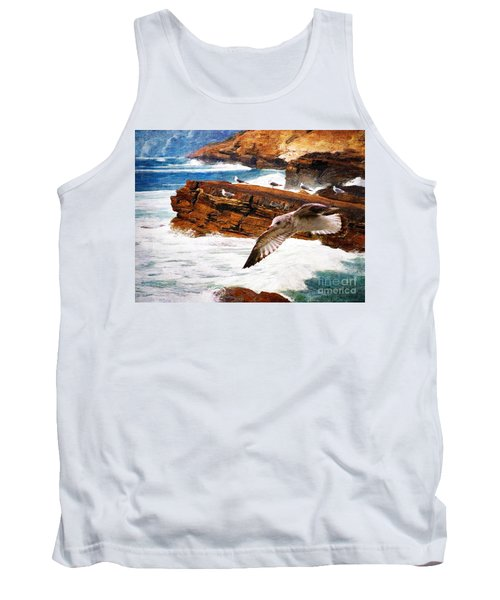 I Stand Amid The Breakers Tank Top