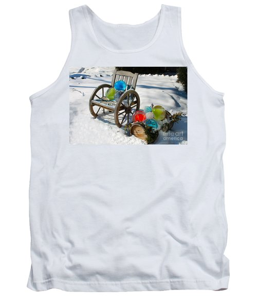 Tank Top featuring the photograph Ice Ball Art by Nina Silver