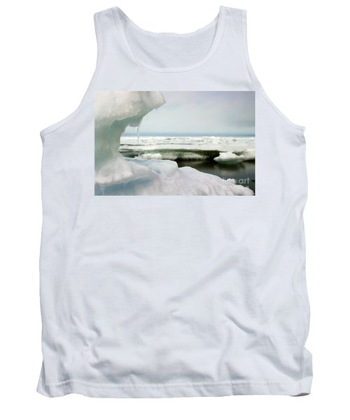 Tank Top featuring the photograph Ice Barrow Alaska July 1969 By Mr. Pat Hathaway by California Views Mr Pat Hathaway Archives