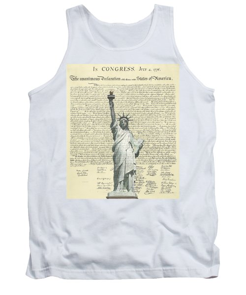 Icon Of Freedom Tank Top by Charles Beeler