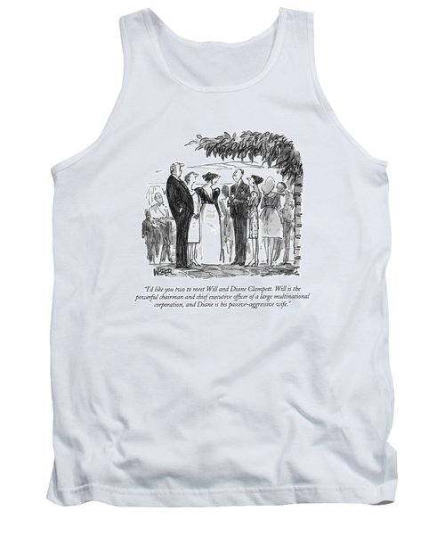 I'd Like You Two To Meet Will And Diane Clampett Tank Top