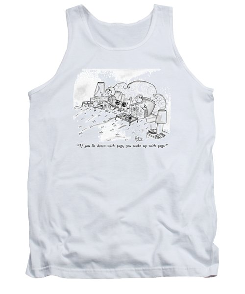 If You Lie Down With Pugs Tank Top