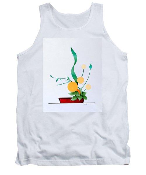 Ikebana #1 Red Pot Tank Top
