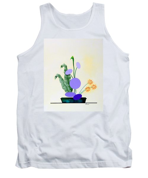 Ikebana #2 Green Pot Tank Top