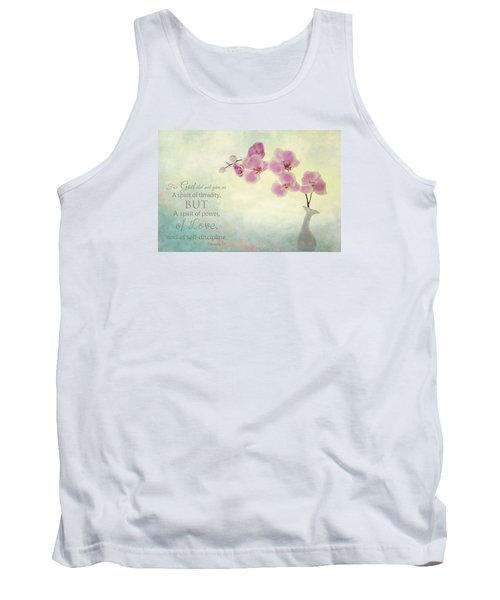 Ikebana With Message Tank Top