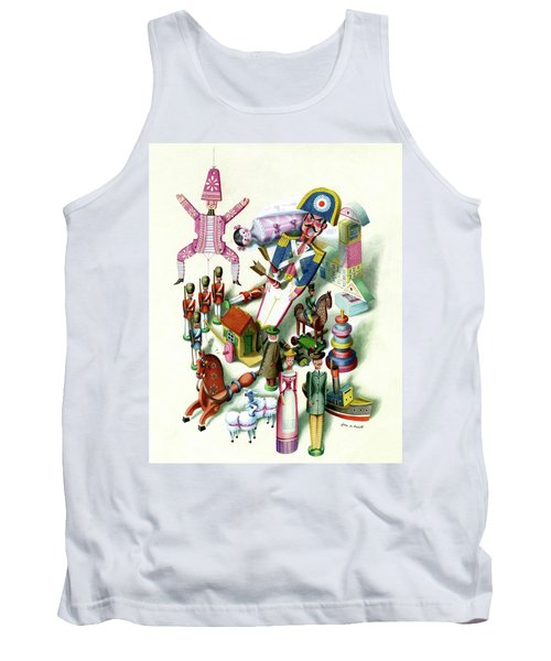 Illustration Of A Group Of Children's Toys Tank Top