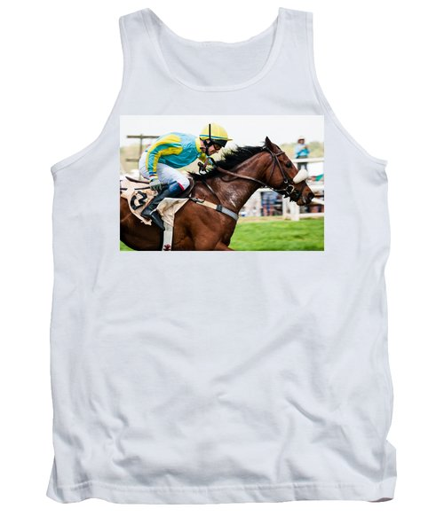 Tank Top featuring the photograph I'm Getting There by Robert L Jackson