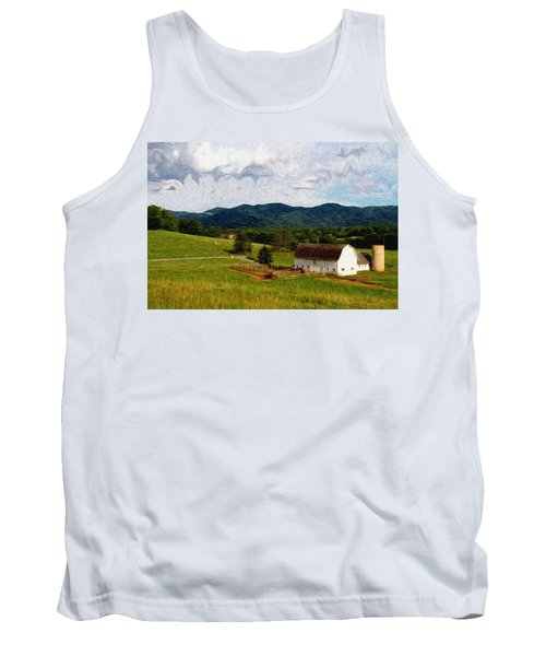 Tank Top featuring the painting Impressionist Farming by John Haldane
