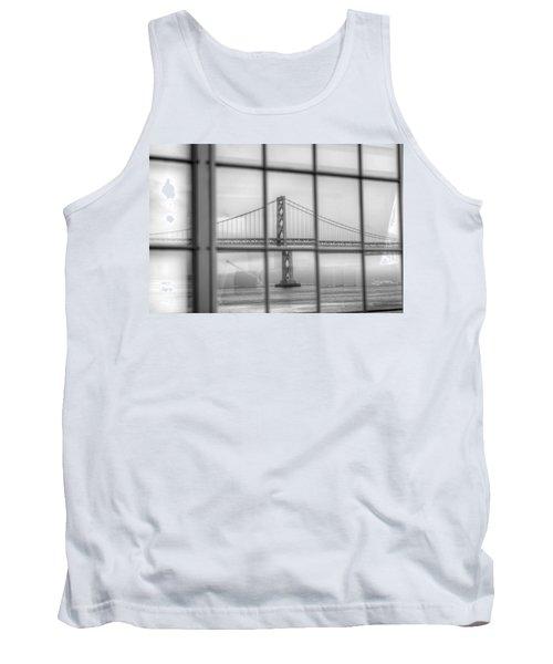 in a window the Bay Bridge Tank Top