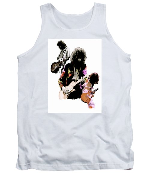 In Flight Iv Jimmy Page  Tank Top by Iconic Images Art Gallery David Pucciarelli