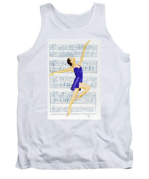 In Sync With The Music Tank Top by Margaret Harmon