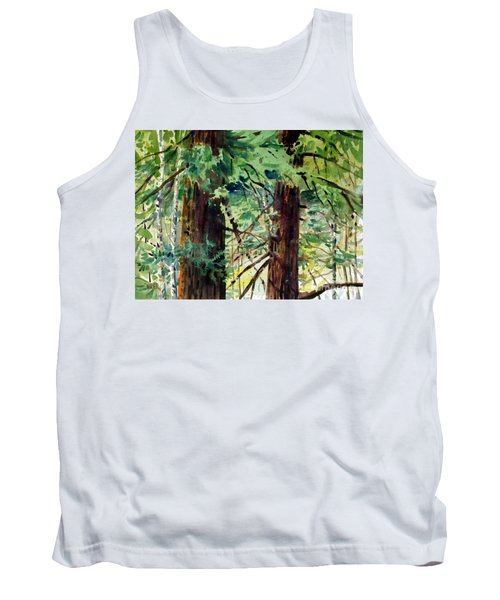 Tank Top featuring the painting In The Canopy by Donald Maier