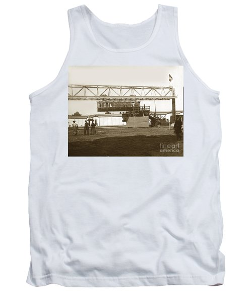 Tank Top featuring the photograph Incredible Hanging Railway  1900 by California Views Mr Pat Hathaway Archives