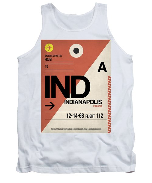 Indianapolis Airport Poster 1 Tank Top