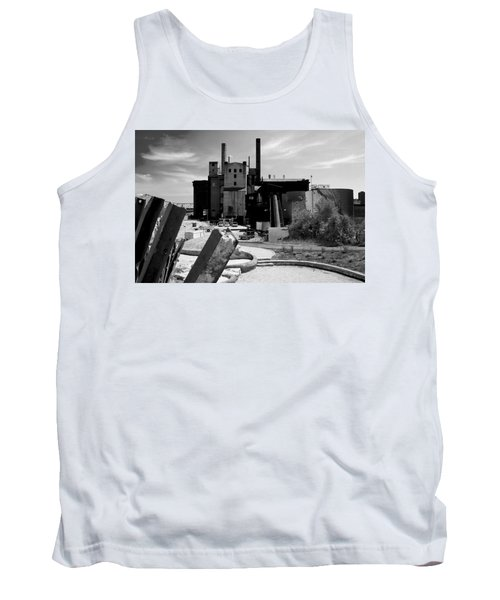 Industrial Power Plant Landscape Smokestacks Tank Top