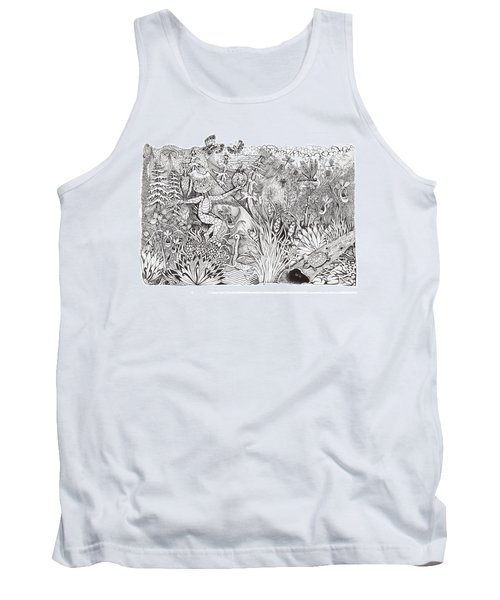 Inky Orchid Pond Tank Top