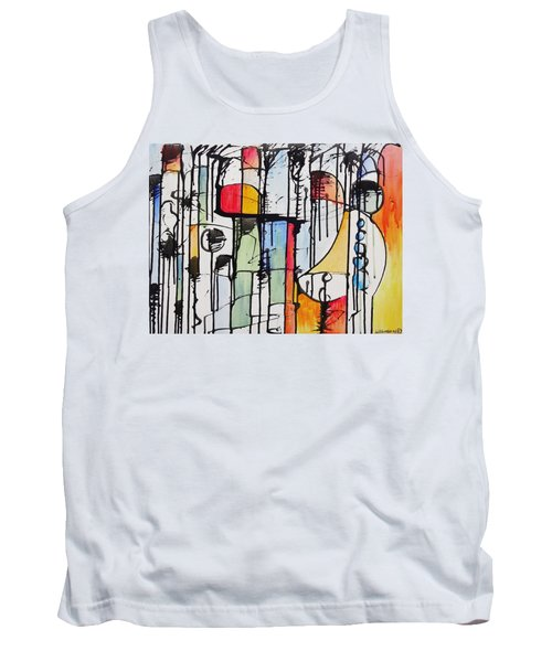 Tank Top featuring the painting Internal Opposition by Jason Williamson