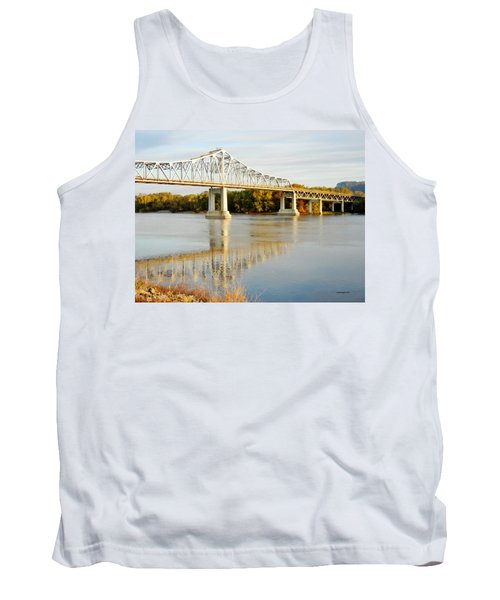 Interstate Bridge In Winona Tank Top