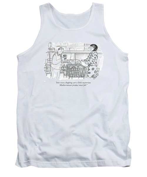 Into Every Shopping Cart A Little Mysterious Tank Top