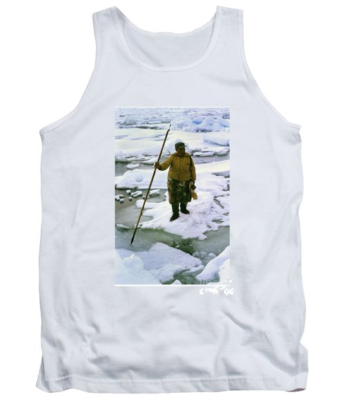Tank Top featuring the photograph Inuit Seal Hunter Barrow Alaska July 1969 by California Views Mr Pat Hathaway Archives
