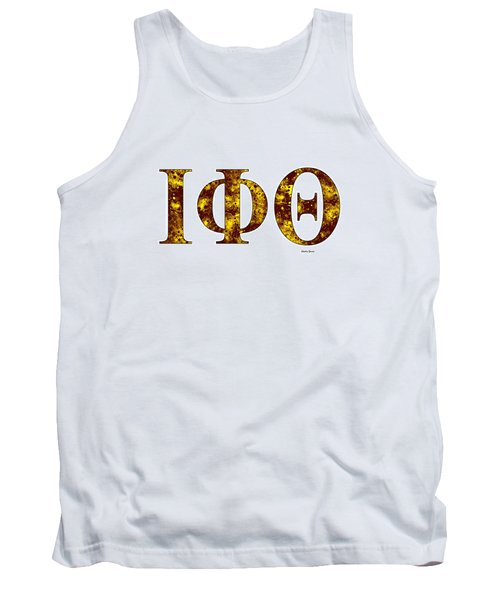 Tank Top featuring the digital art Iota Phi Theta - White by Stephen Younts