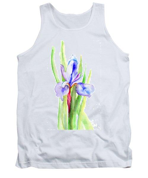 Iris Flowers Tank Top