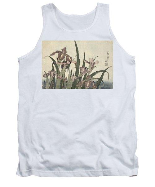 Irises And Grasshopper Tank Top