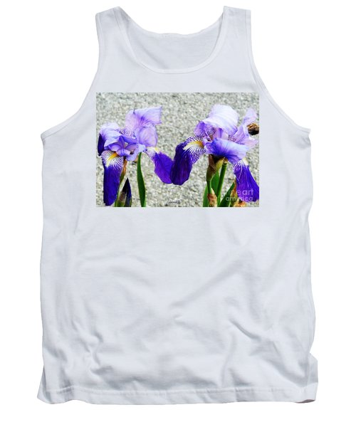 Tank Top featuring the photograph Irises by Jasna Dragun