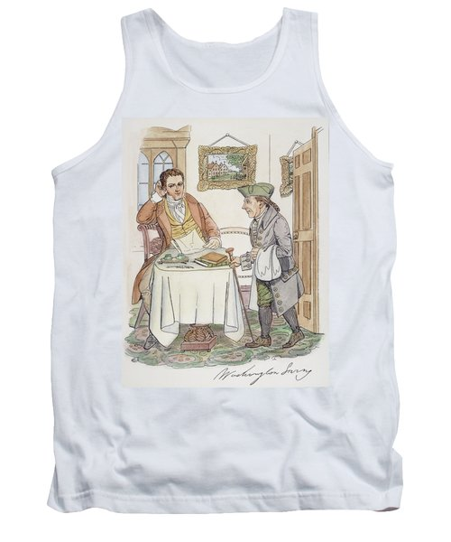 Tank Top featuring the painting Irving & Knickerbocker by Granger