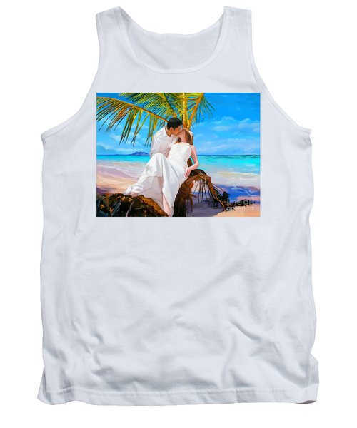 Tank Top featuring the painting Island Honeymoon by Tim Gilliland