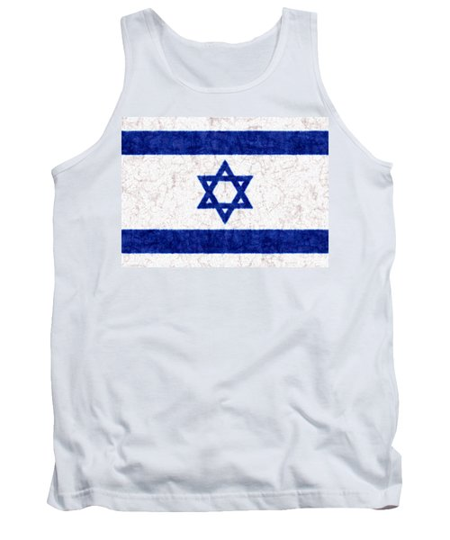 Israel Star Of David Flag Batik Tank Top