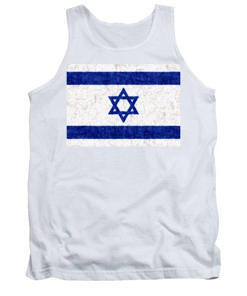 Israel Star Of David Flag Batik Tank Top by Kurt Van Wagner