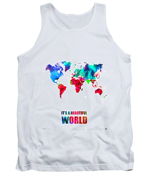It's A Beautifull World Poster Tank Top