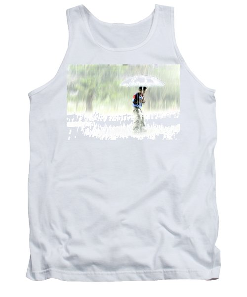 Tank Top featuring the photograph It's Raining Outside by Heiko Koehrer-Wagner