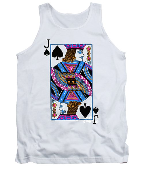 Tank Top featuring the photograph Jack Of Spades - V3 by Wingsdomain Art and Photography