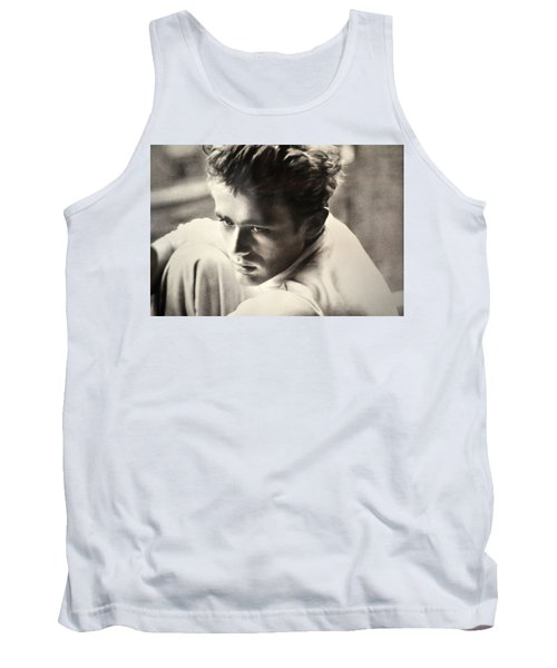 James Dean Black And White Tank Top by Jay Milo